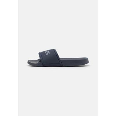 ジャックアンドジョーンズ メンズ 靴 シューズ POOL SLIDER - Pool slides - navy blazer