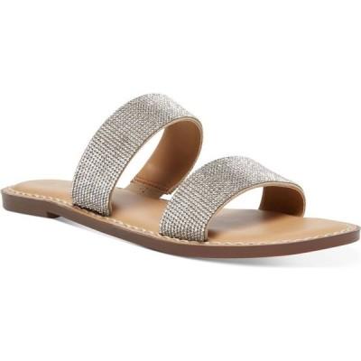 ワイルド ペアー Wild Pair レディース サンダル・ミュール フラット シューズ・靴 Ginnie Double-Band Flat Sandals Silver Bling
