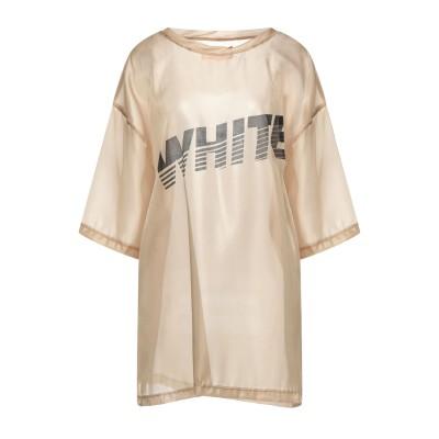 WHITE* ブラウス サンド XL ポリエステル 100% ブラウス