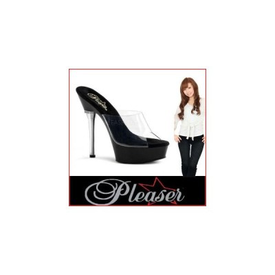 """ミュール サンダル プリーザー Pleaser ALLURE-601 5 1/2"""" Heel all601-c-b   レディース シューズ 靴   お取り寄せ商品"""