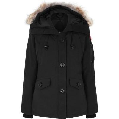 カナダグース Canada Goose レディース コート アウター Montebello Fur-Trimmed Arctic-Tech Parka Black