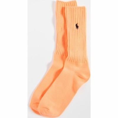 ラルフ ローレン Polo Ralph Lauren メンズ ソックス インナー・下着 neon slouchy socks Bright Orange
