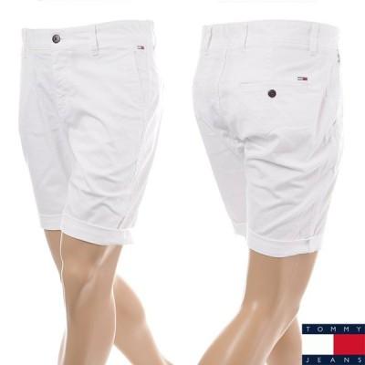 トミージーンズ TOMMY JEANS ショートパンツ メンズ DM0DM05444 ホワイト