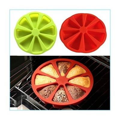 新品2 Pack Non-Stick Silicone Cake Mold Round Baking Molds 8 Cavity Cake Pans Bread Pizza Slices Pan Baking Pastry Tools Jelly Cupcake Mol