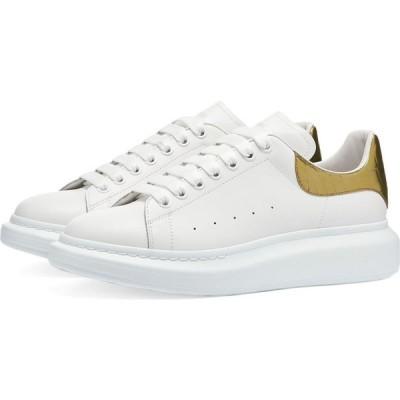 アレキサンダー マックイーン Alexander McQueen メンズ スニーカー ウェッジソール metallic printed croc heel tab wedge sole sneaker White/Gold