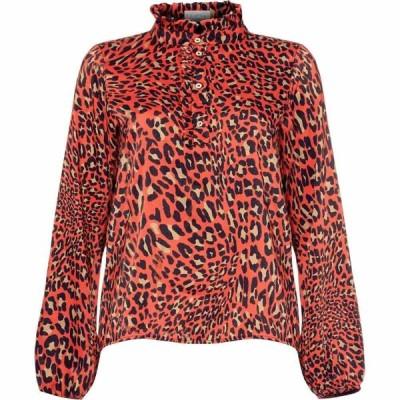 ダンセル Damsel in a Dress レディース ブラウス・シャツ トップス Aimee Animal Print Blouse Red