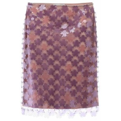 PACO RABANNE/パコ ラバンヌ ショートスカート PURPLE PINK Paco rabanne floral paillettes skirt レディース 春夏2020 20PIJU101PS0207