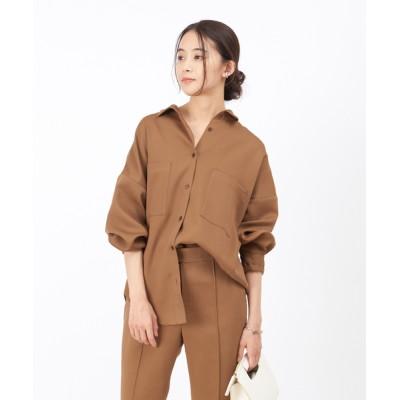 Rouge vif la cle / 【東原妙子さんコラボ】ツイルオーバーサイズシャツ WOMEN トップス > シャツ/ブラウス