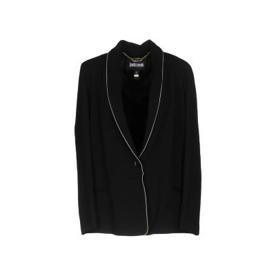 ジャストカヴァリ JUST CAVALLI テーラードジャケット ブラック 42 97% レーヨン 3% ポリウレタン テーラードジャケット