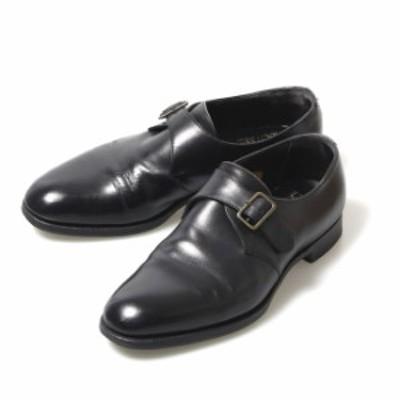 エドワードグリーン EDWARD GREEN シングルモンク プレーントゥ UK7E 202ラスト ブラック カーフ イギリス製 メンズ 靴 革靴 紳士靴 【中