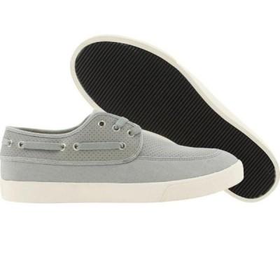 ユニセックス スニーカー シューズ Generic Surplus Boat Shoe Perf Leather (grey)