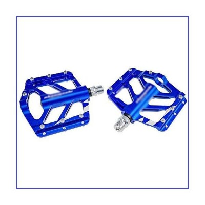 Pedal XMYYHH Bicycle Aluminum BMX MTB Flat-Platform 9/16 Inch Bike for Mountain and Road for Road Bicycle MTB (Color : Blue)