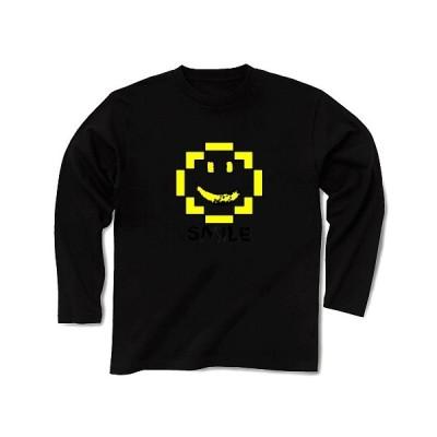 SMILE 長袖Tシャツ Pure Color Print(ブラック)