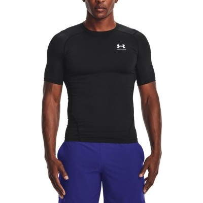 アンダーアーマー Tシャツ トップス メンズ Under Armour Men's HeatGear Compression T-Shirt Black/White