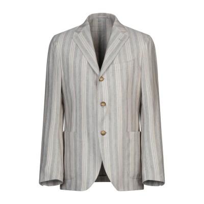ラルディーニ LARDINI テーラードジャケット ライトグレー 50 シルク 42% / 麻 30% / コットン 28% テーラードジャケット