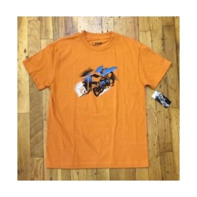 フォックスレーシングトップス Tシャツ キッズ 子供ユース Boys Fox Racing Steadfast Tee Tシャツ オレンジ MX ATV Motoクロス スーパークロス