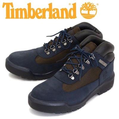 Timberland (ティンバーランド) A1XMX FIELD BOOT F/L WP フィールドブーツ レザー&ファブリック ウォータープルーフ Navy Nubuck TB095