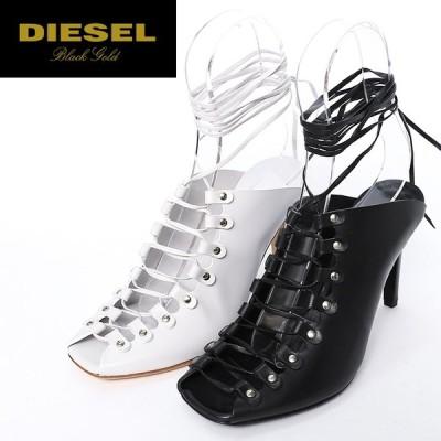 ディーゼルブラックゴールド DIESEL BLACK GOLD レザーサンダル 靴 シューズ レディース 本革 レースアップ ハイヒール ミュール JANE-L