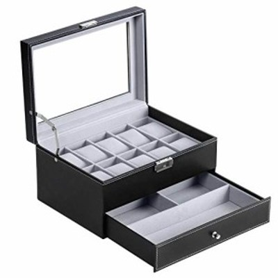 BASTUO 腕時計ボックス メンズ 10個 腕時計ディスプレイオーガナイザー PUレザージュエリーデ