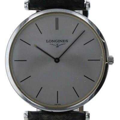 ロンジン LONGINES グランドクラシック L4.709.4 クオーツ シルバー 文字盤 2針式 メンズ 腕時計 【sg】【中古】