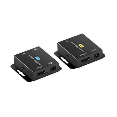 HDMI 延長器 エクステンダー 60m LAN 延長 1080P HDCP 対応 CAT6 CAT6a CAT6e CAT7 LANケーブル パソコン 防犯カメラ ディスプ?