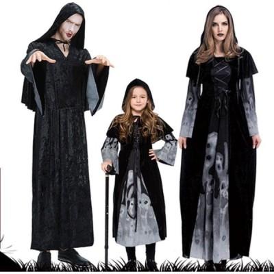 親子コスプレ ハロウィン特集 髑髏 死神 悪魔 蓄光 巫女 魔女の Cosplay 衣装