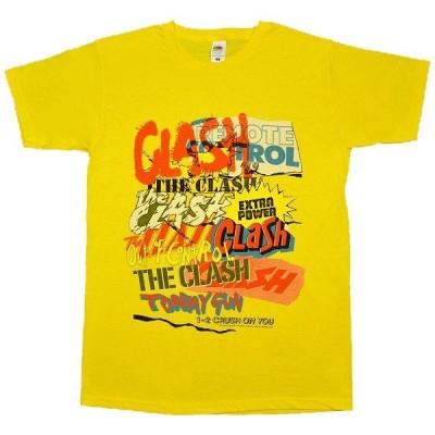THE CLASH Singles Collage Text Tシャツ