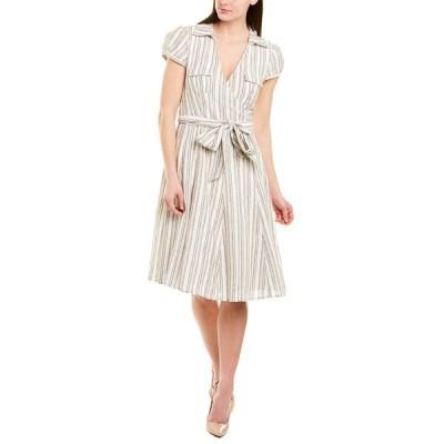 ジュリーブラウン ワンピース トップス レディース Julie Brown Linen-Blend Wrap Dress sunbeam