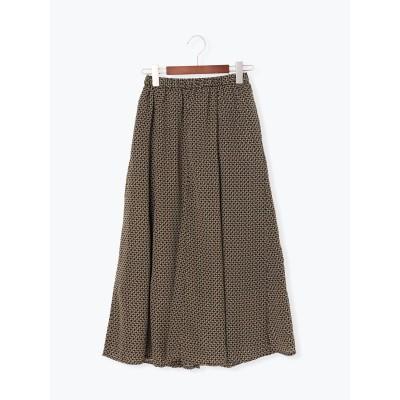 幾何柄フレアスカート