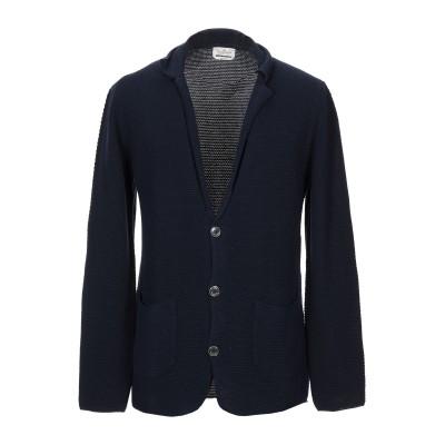 ブルックスフィールド BROOKSFIELD テーラードジャケット ダークブルー M コットン 100% テーラードジャケット
