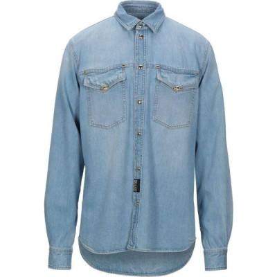 ヴェルサーチ VERSACE JEANS COUTURE メンズ シャツ デニム トップス Denim Shirt Blue