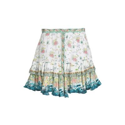 CAMILLA ミニスカート ホワイト XS シルク 100% ミニスカート