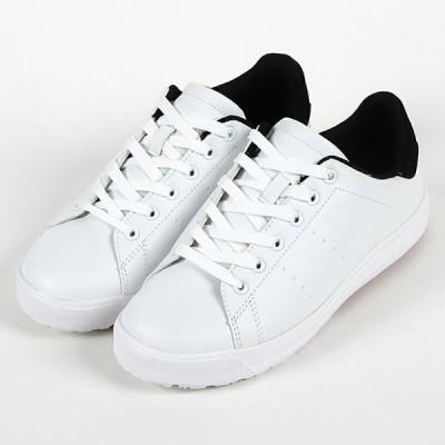 スニーカー メンズ 8300 樹脂先芯 耐滑 ホワイト/ブラック WHITE/BLACK 25〜27,28cm 靴 シューズ