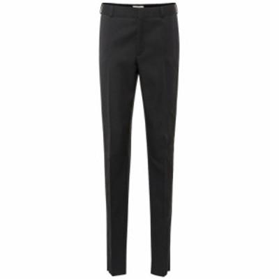 イヴ サンローラン Saint Laurent レディース ボトムス・パンツ High-rise straight wool pants Noir