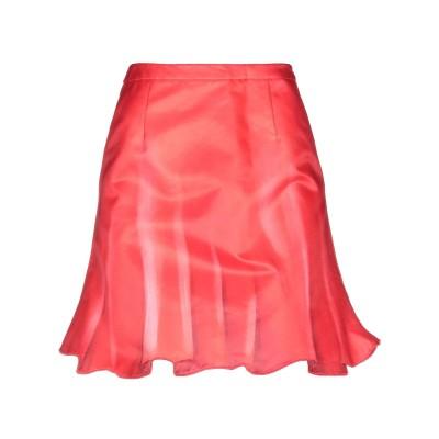 モスキーノ MOSCHINO ひざ丈スカート レッド 42 コットン 81% / シルク 19% ひざ丈スカート