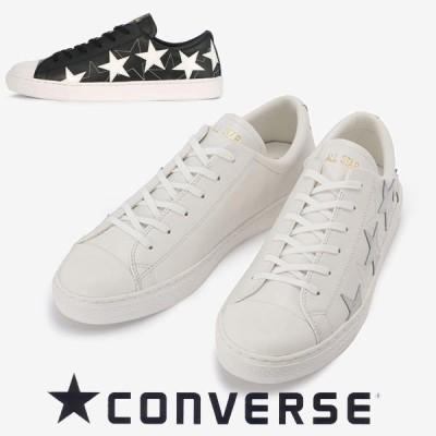 コンバース オールスタークップメニースターズ ブラック ホワイト converse allstar coupe manystars ox メンズ レディース レザー スニーカー ローカット