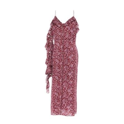 マグダ・ブトリム MAGDA BUTRYM 7分丈ワンピース・ドレス ボルドー 36 シルク 100% 7分丈ワンピース・ドレス