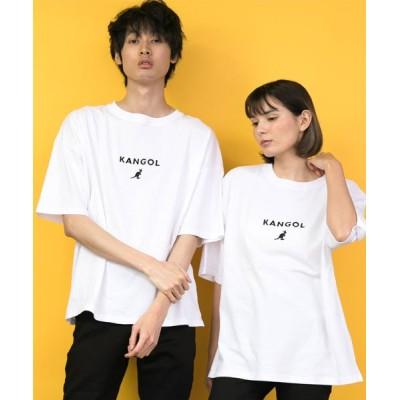 【ラザル】 KANGOL/カンゴール × Lazar  ビッグシルエット ミニロゴ刺繍 Tシャツ/ ビッグT ユニセックス 柄A M LAZAR