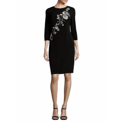 JS コレクションズ レディース ワンピース Embroidered Floral Sheath Dress