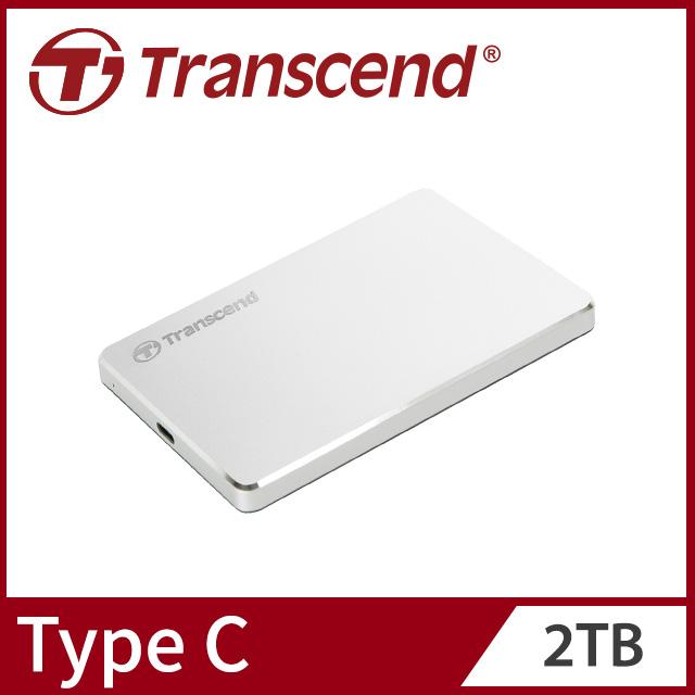 【Transcend 創見】2TB StoreJet 25C3S 極致輕薄2.5吋Type C行動硬碟
