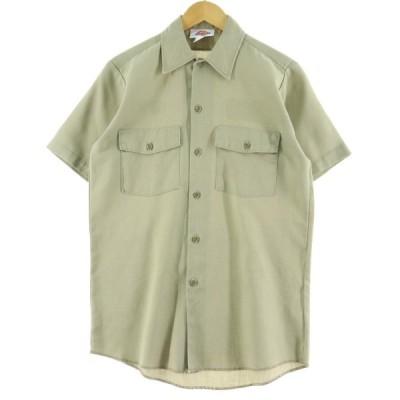 ディッキーズ Dickies 半袖 ワークシャツ USA製 メンズM 【中古】 【200719】 /eaa061417