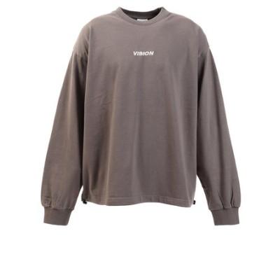 ヴィジョン(VISION)Tシャツ メンズ 長袖 ドローコード 0323151-02CHA
