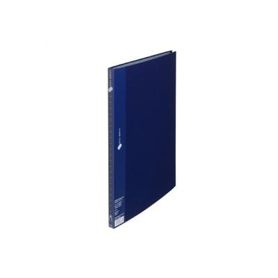 プラス スーパーエコノミークリアーファイル B4タテ 20ポケット ネイビー 紺 固定式 FC-112EL 88471