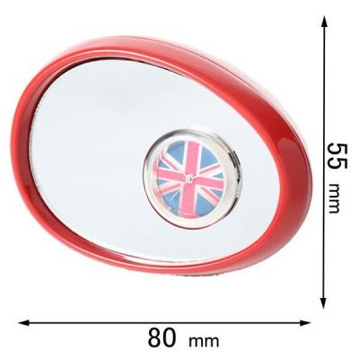 ミニチュアクロック Miniature Clock Collectionミニチュア置時計 サイドミラー 赤 C3215-RD 返品種別B