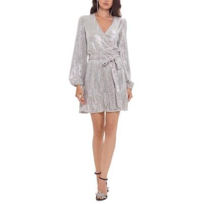 ベッツィアンドアダム レディース ワンピース トップス Sequinned Fit & Flare Dress