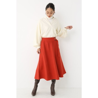 Belted Knit Flare Skirt ORG