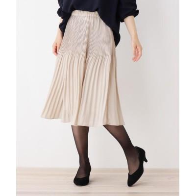 HusHusH(Ladies)(ハッシュアッシュ(レディース)) 【セレモニー対応】サテンプリーツスカート