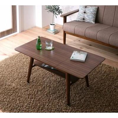 センターテーブル テーブル リビング 木製 Sサイズ(幅60-90) 【 ブラウン 茶色 】 【 送料無料 】