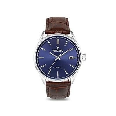 VinceroラグジュアリーメンズKairos Automatic Wrist Watch with Italian Leather Watch Ba[並行輸入品]