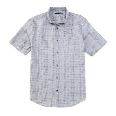 ムラノ メンズ シャツ トップス Slim-Fit Dot Jacquard Short-Sleeve Woven Shirt